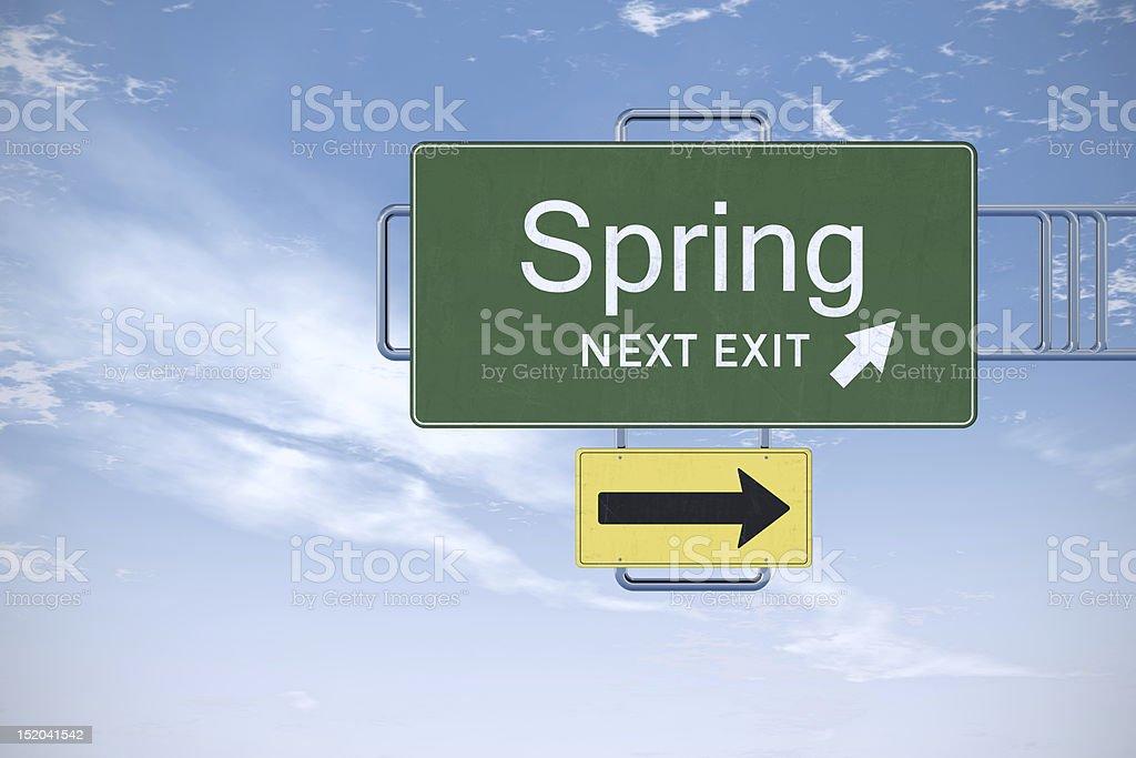 Spring next exit! stock photo