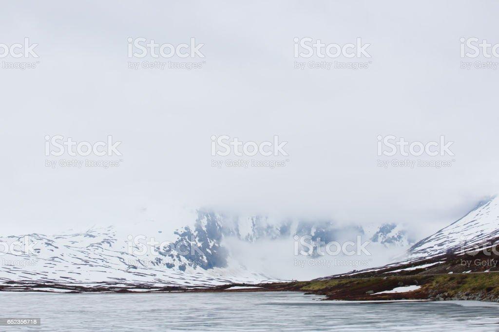 Spring Norway landscape stock photo