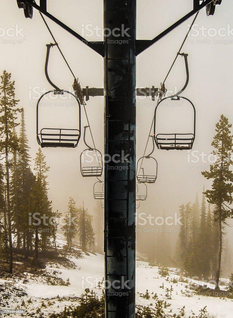 Spring on Blacktail Mountain in Montana stock photo