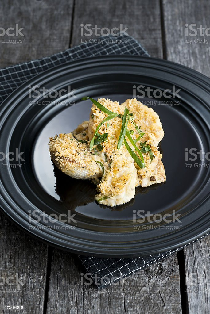 Spring Onion Appetizer stock photo