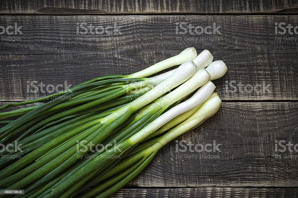 Spring onion stock photo