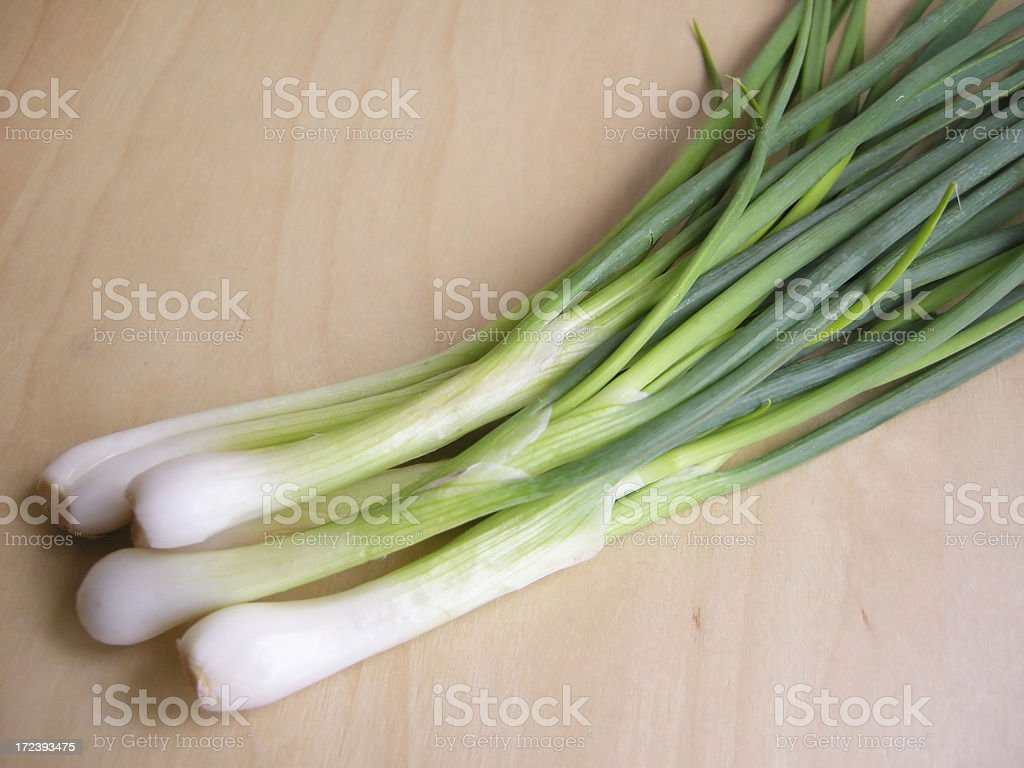 spring onions royalty-free stock photo