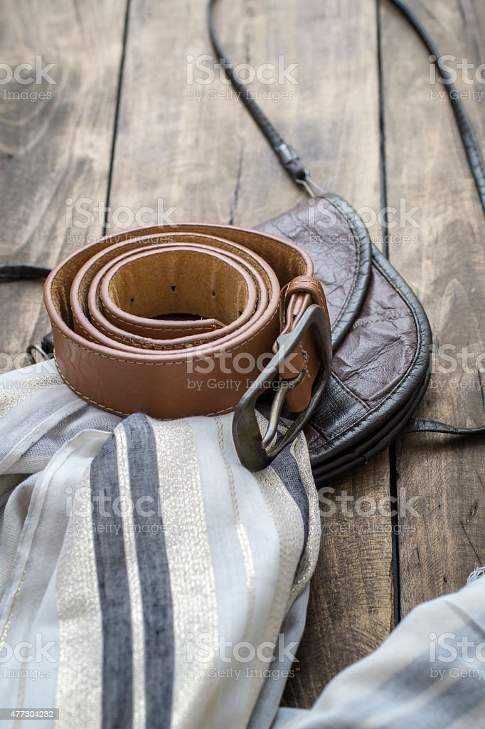 Spring or summer women's fashion accessories stock photo