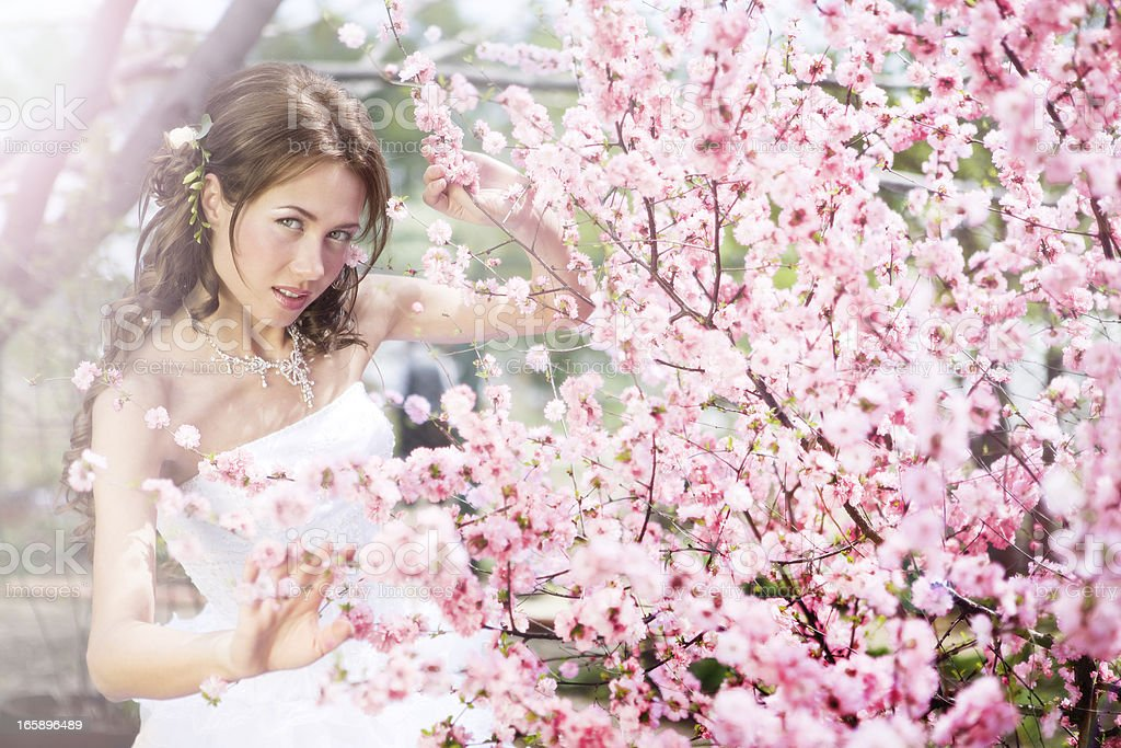 Spring Park and Smiling Brade royalty-free stock photo