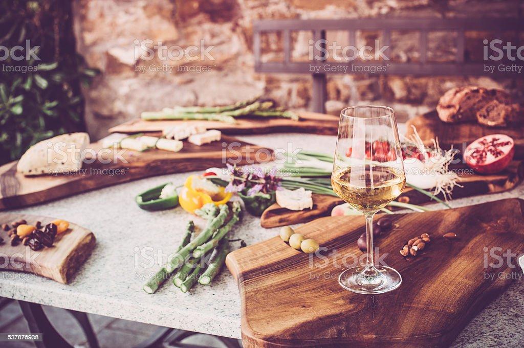 spring picnic stock photo