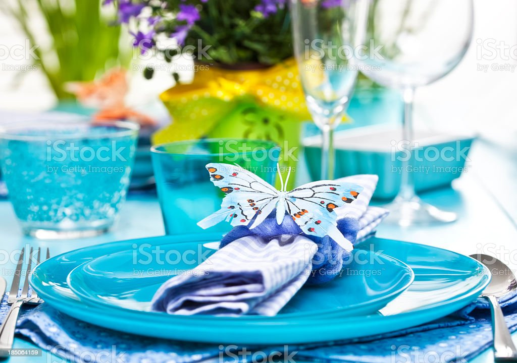Spring Place Setting royalty-free stock photo