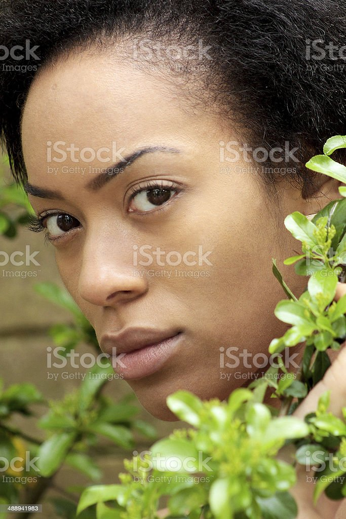 Primavera Ritratto di una giovane donna foto stock royalty-free