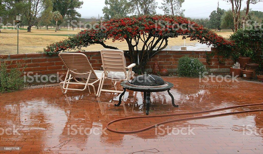Spring Rain Downpour stock photo