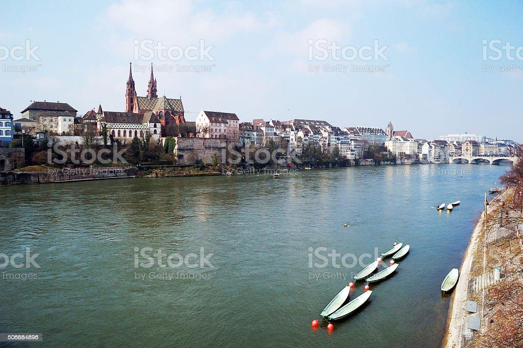 Spring Rhine stock photo
