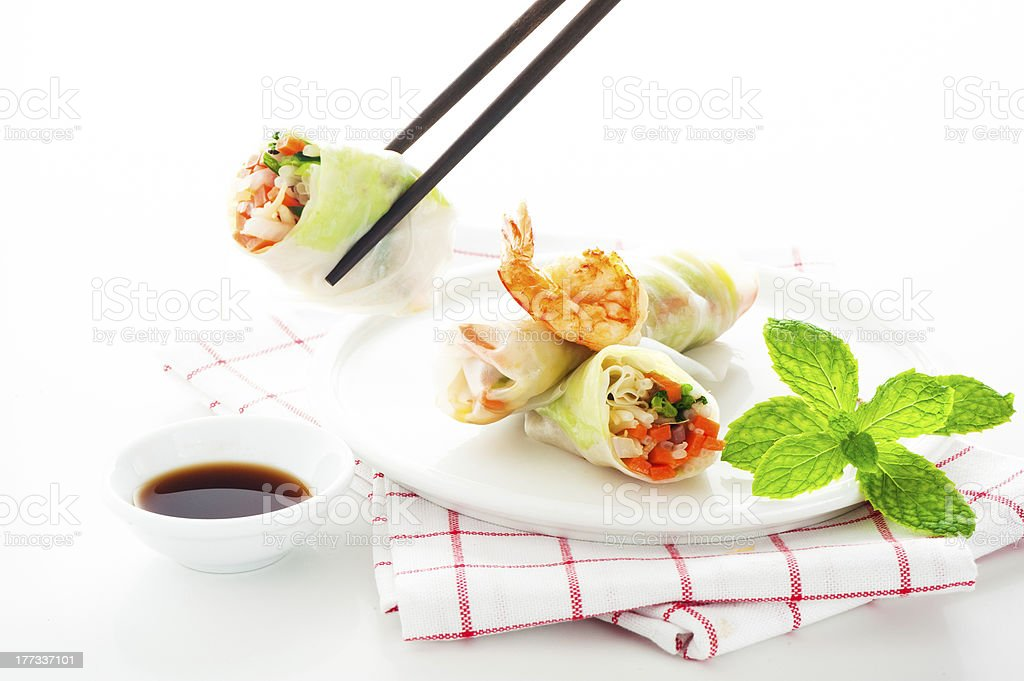 Spring roll royalty-free stock photo
