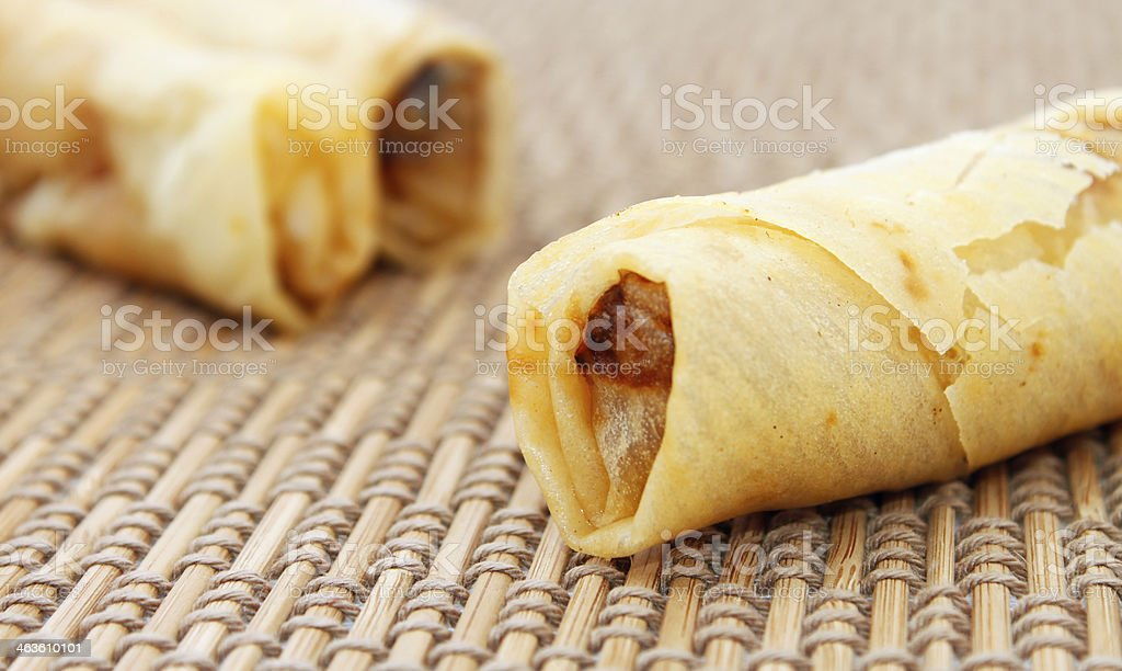 Spring rolls also known as popiah royalty-free stock photo