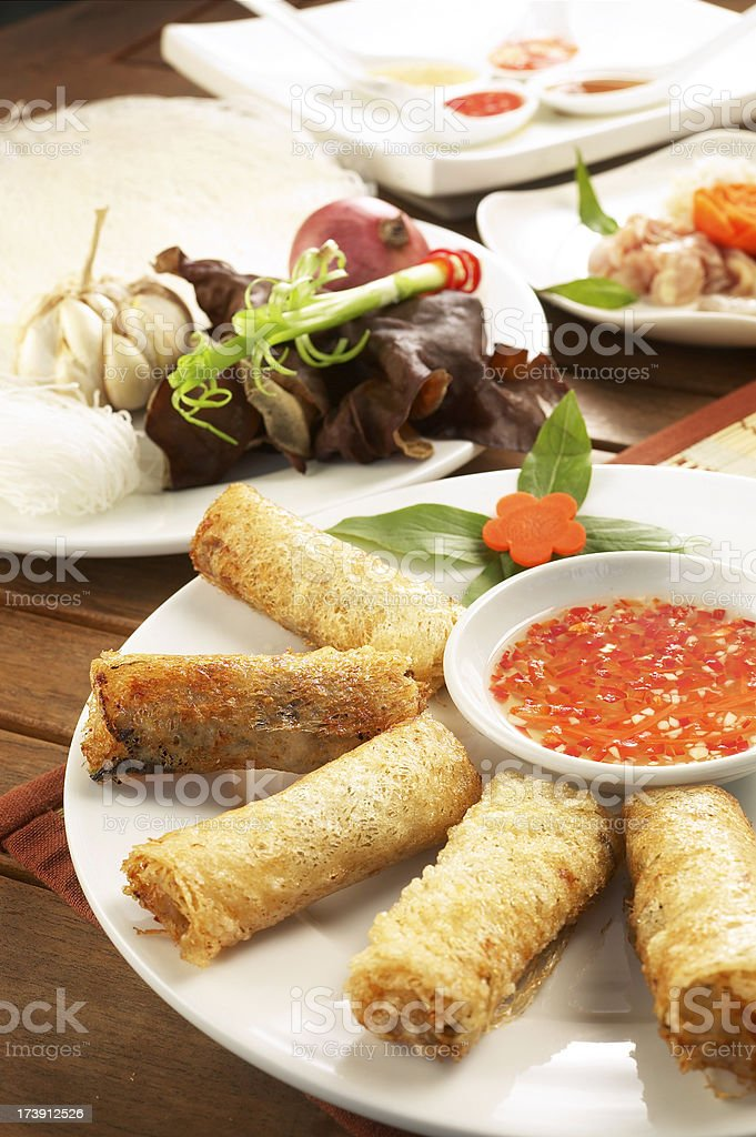 Spring Rolls royalty-free stock photo