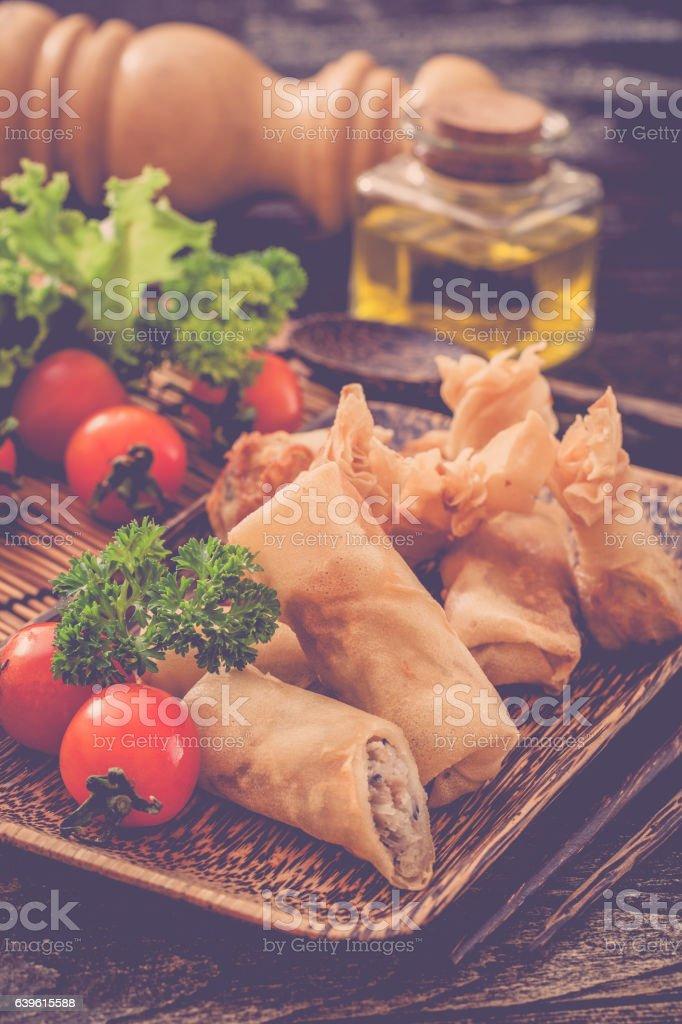 Spring rolls stock photo