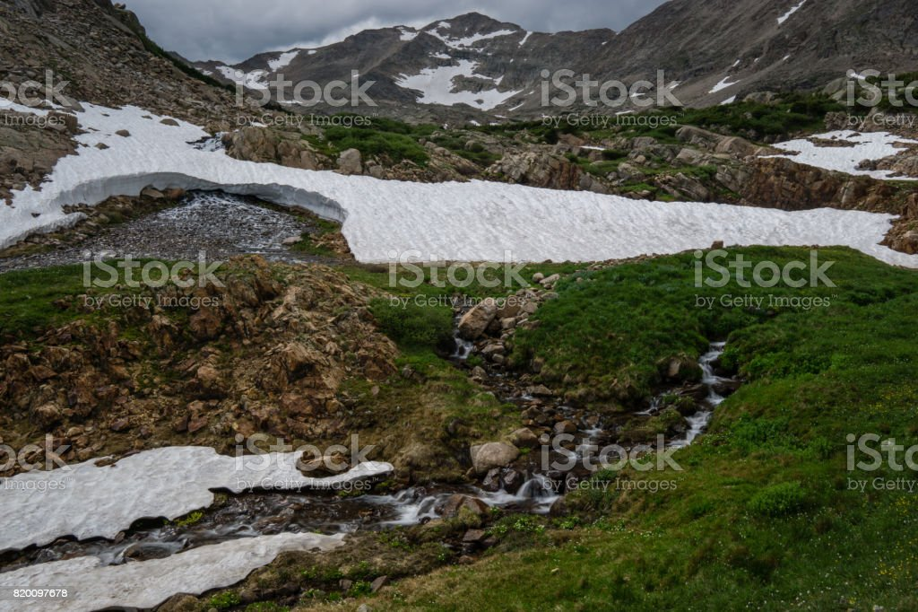 Spring Runoff in Colorado stock photo
