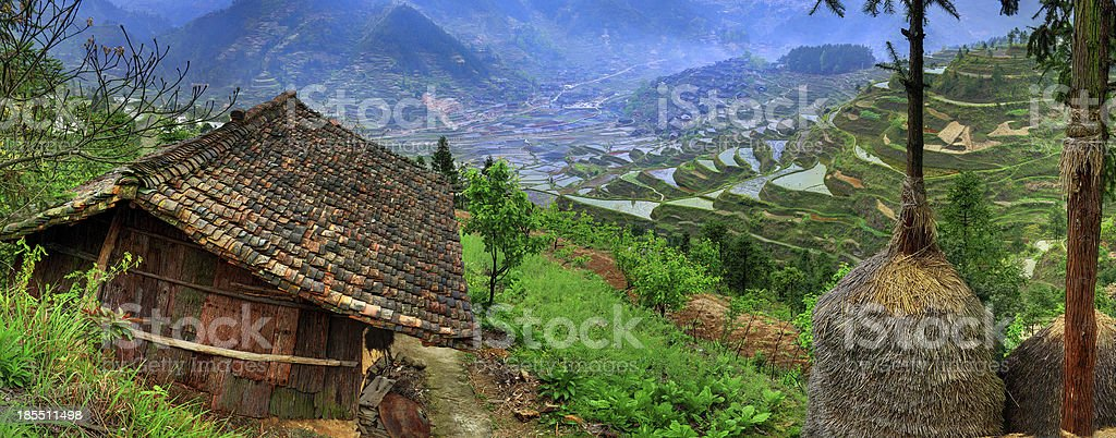 Spring rural landscape in the highlands of south-western China. royalty-free stock photo