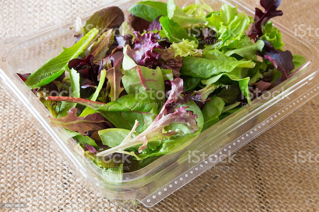 Spring Salad Mix stock photo
