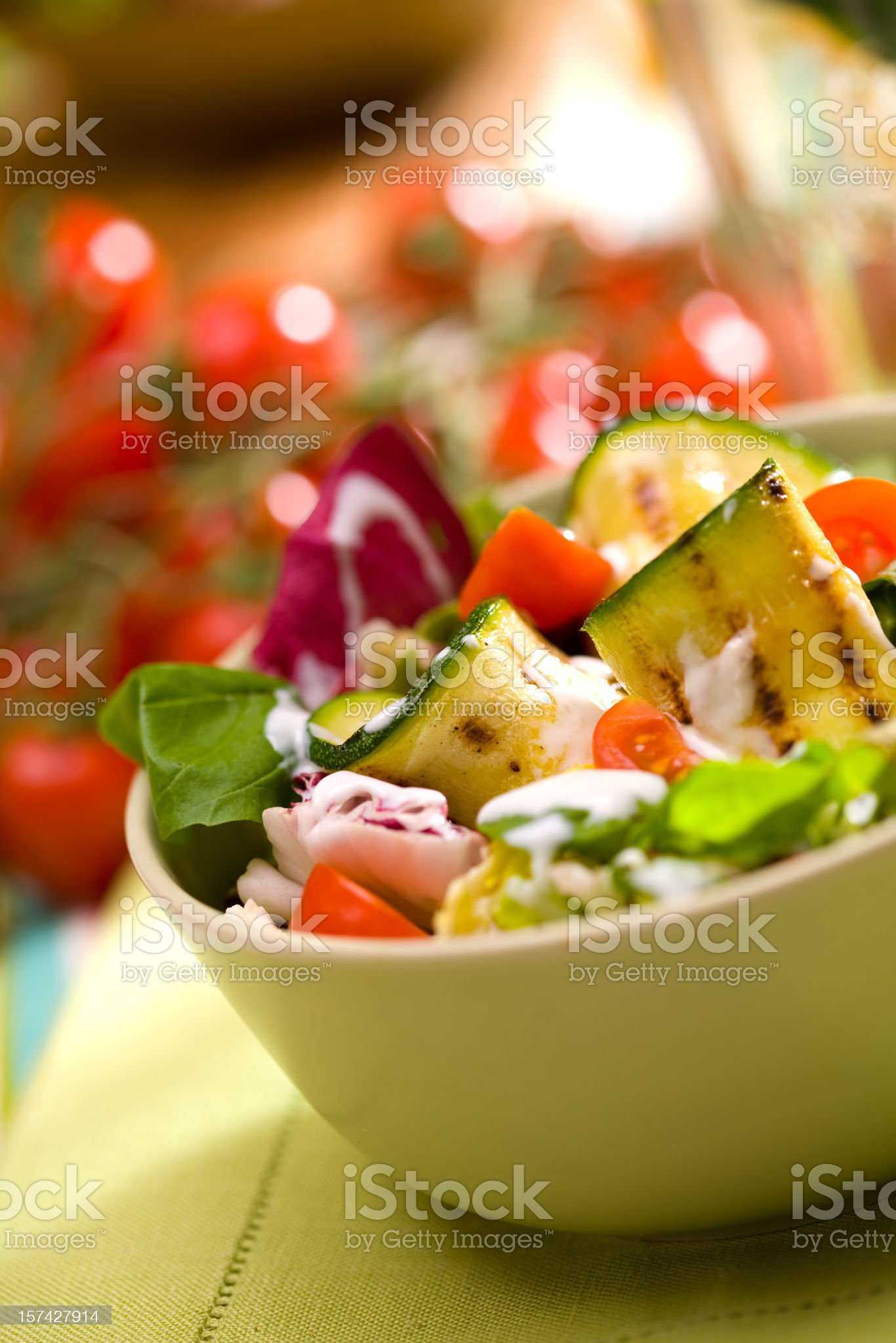 Spring salad royalty-free stock photo