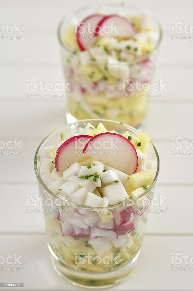 Spring salad with radish royalty-free stock photo