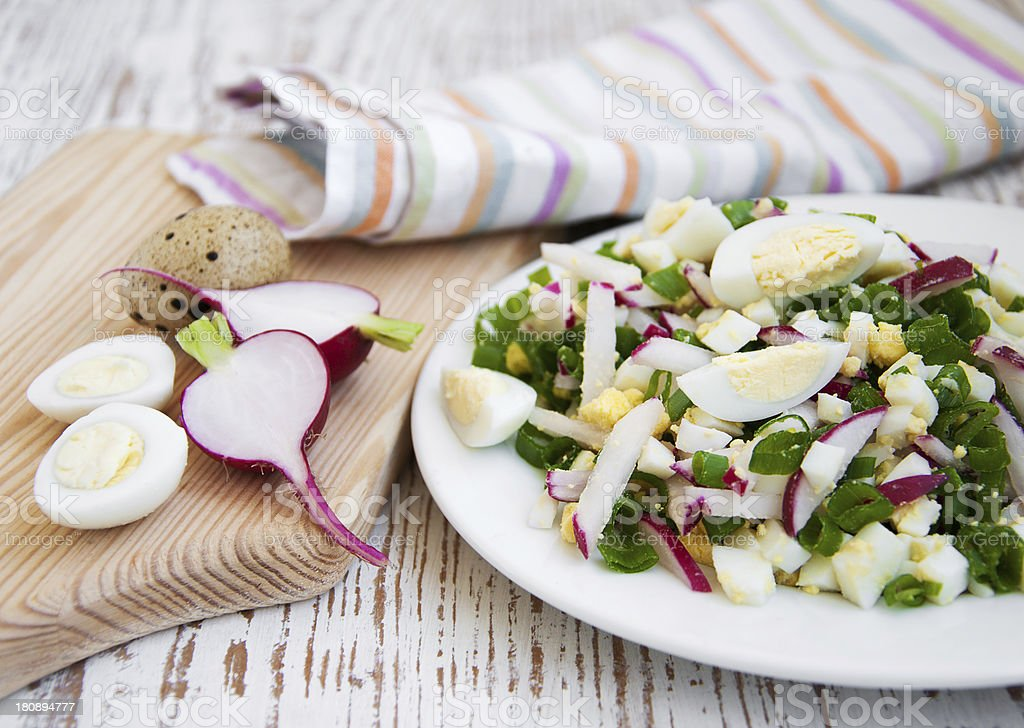 Spring salad with radishes royalty-free stock photo