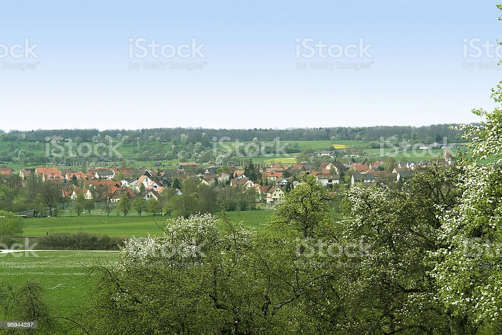 spring scenery in Hohenlohe royalty-free stock photo
