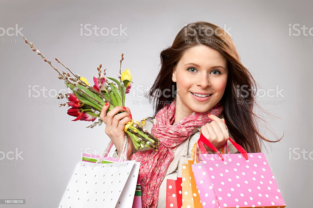 Spring shopping royalty-free stock photo