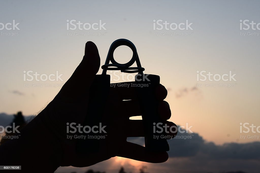 Spring Silhouette Fitness stock photo