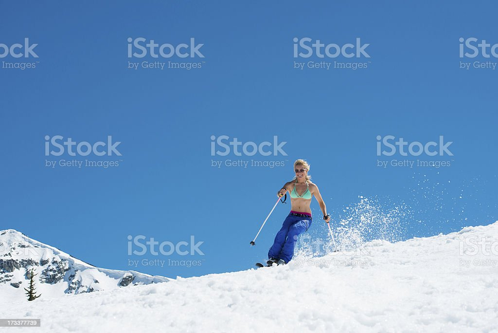 Spring Skiing royalty-free stock photo
