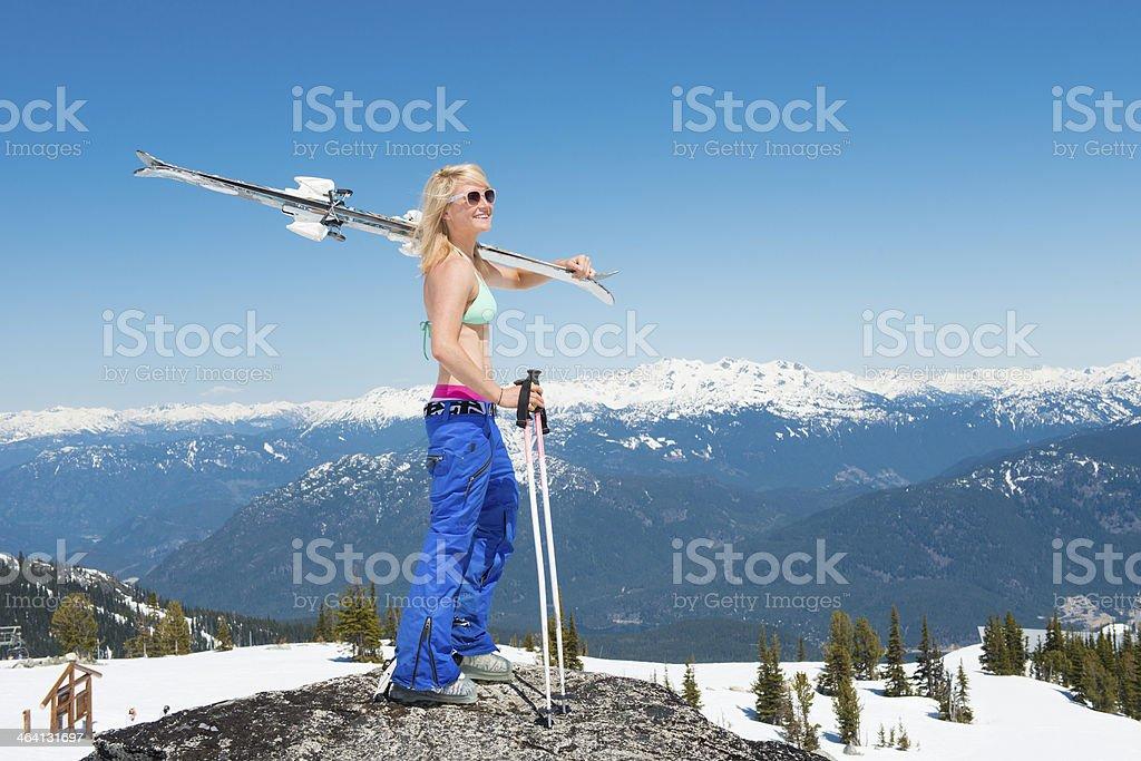 Spring Skiing royalty-free stock photo