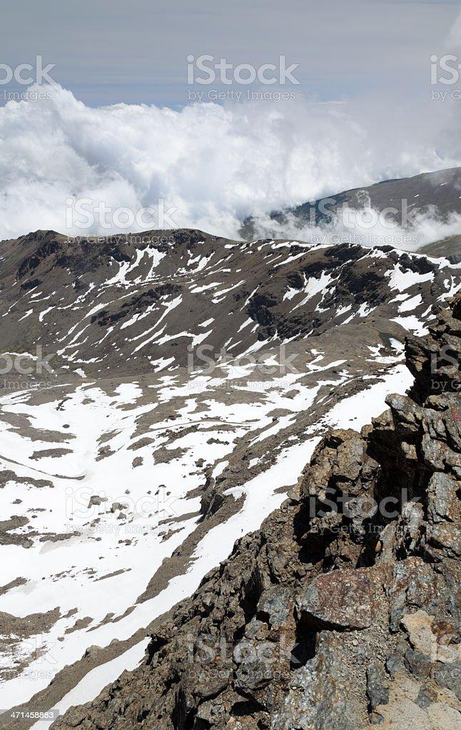 Spring slope of Veleta in the Sierra Nevada royalty-free stock photo