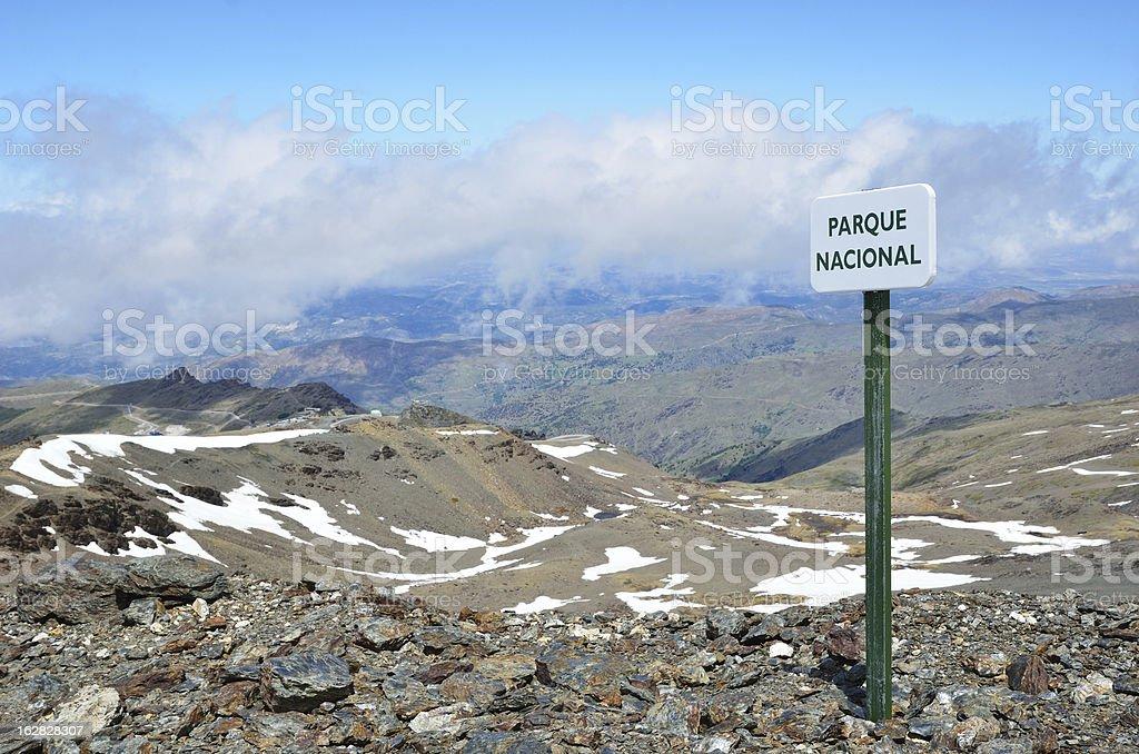 Spring slopes of the mountain Veleta royalty-free stock photo