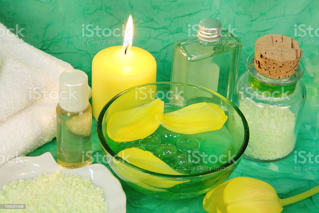 Spring Spa Tranquility stock photo