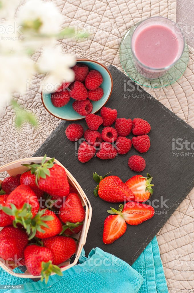 Spring Stawberries Still Life stock photo
