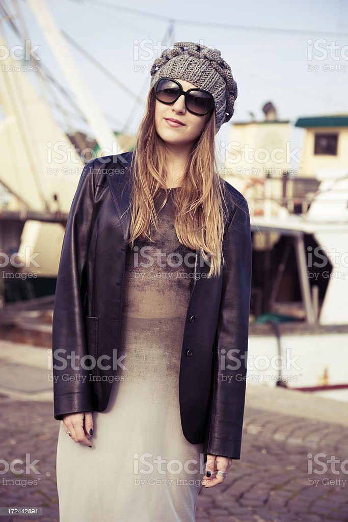 Spring street fashion outfit royalty-free stock photo