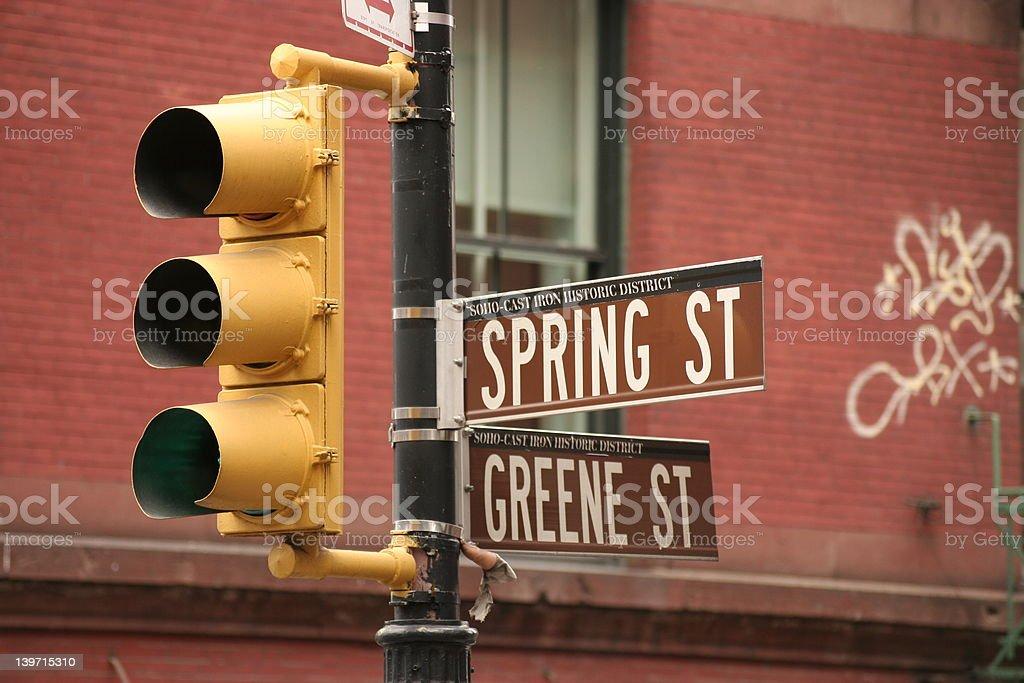 Spring Street stock photo