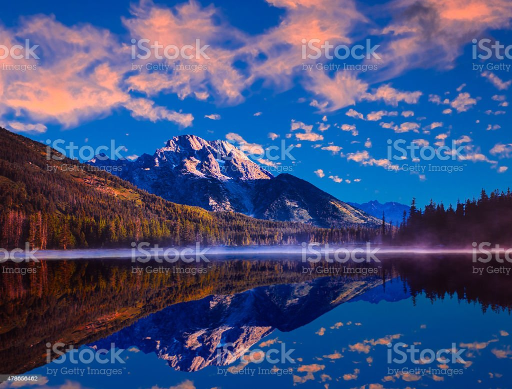 Spring sunrise in Grand Teton National Park, WY stock photo