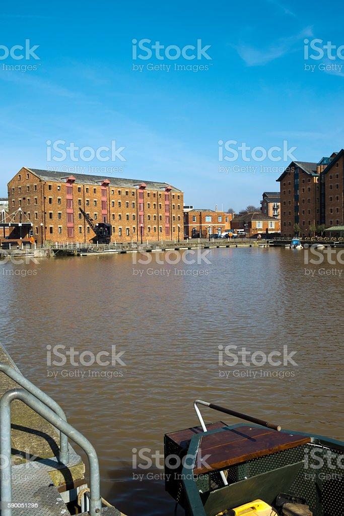Spring sunshine, Gloucester Docks, UK stock photo