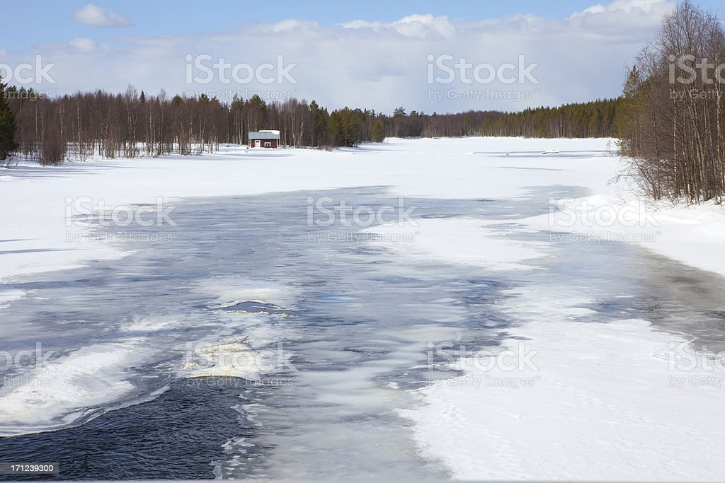 Spring Thaw, Finland royalty-free stock photo