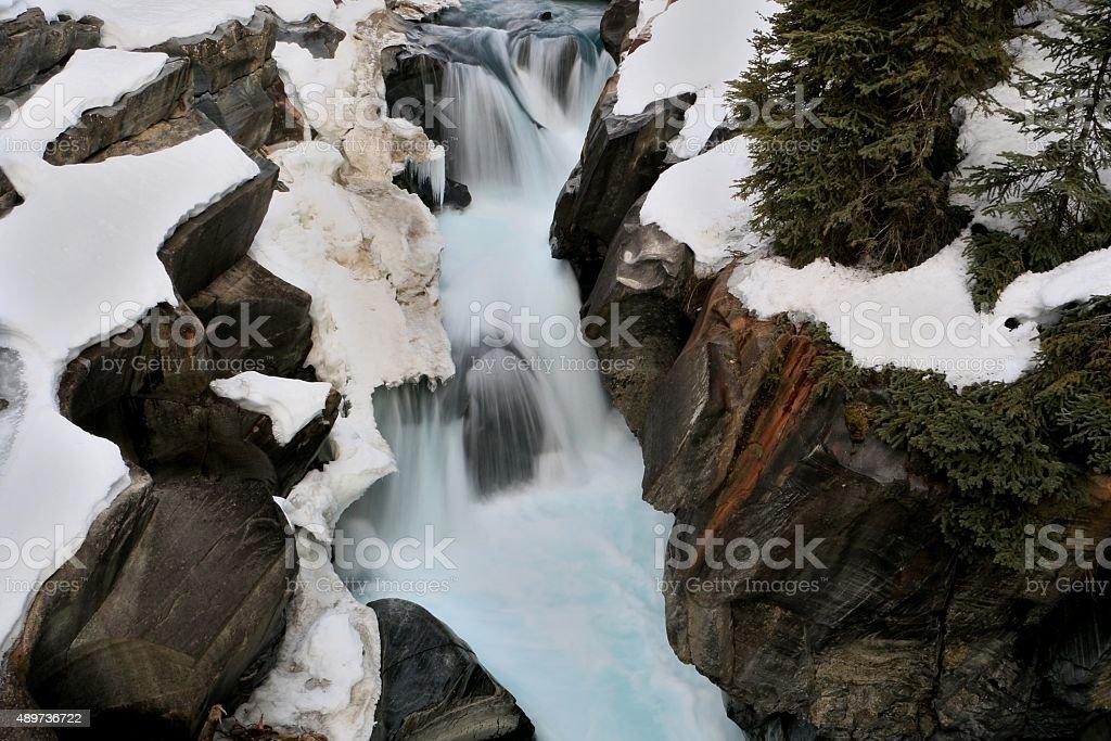 Spring thaw stock photo