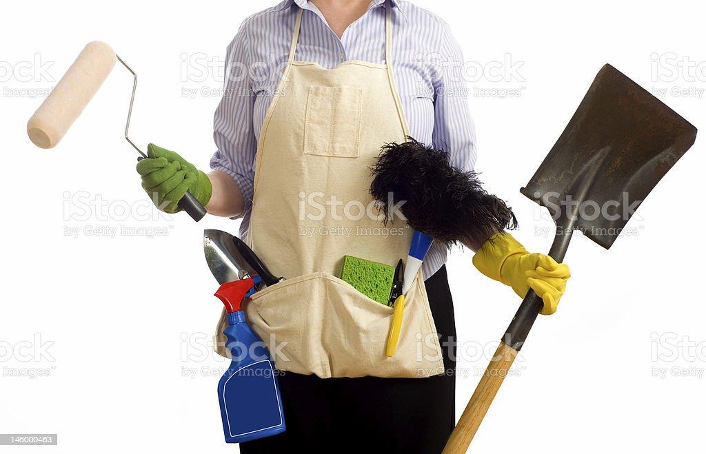 Spring Time Chores stock photo