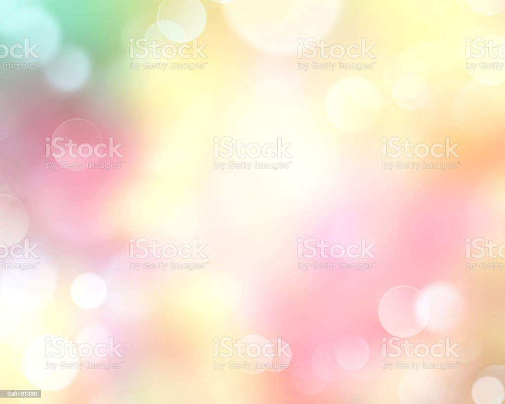 Spring time defocused blur yellow nature background. stock photo