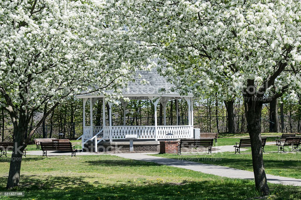 spring time in new england stock photo