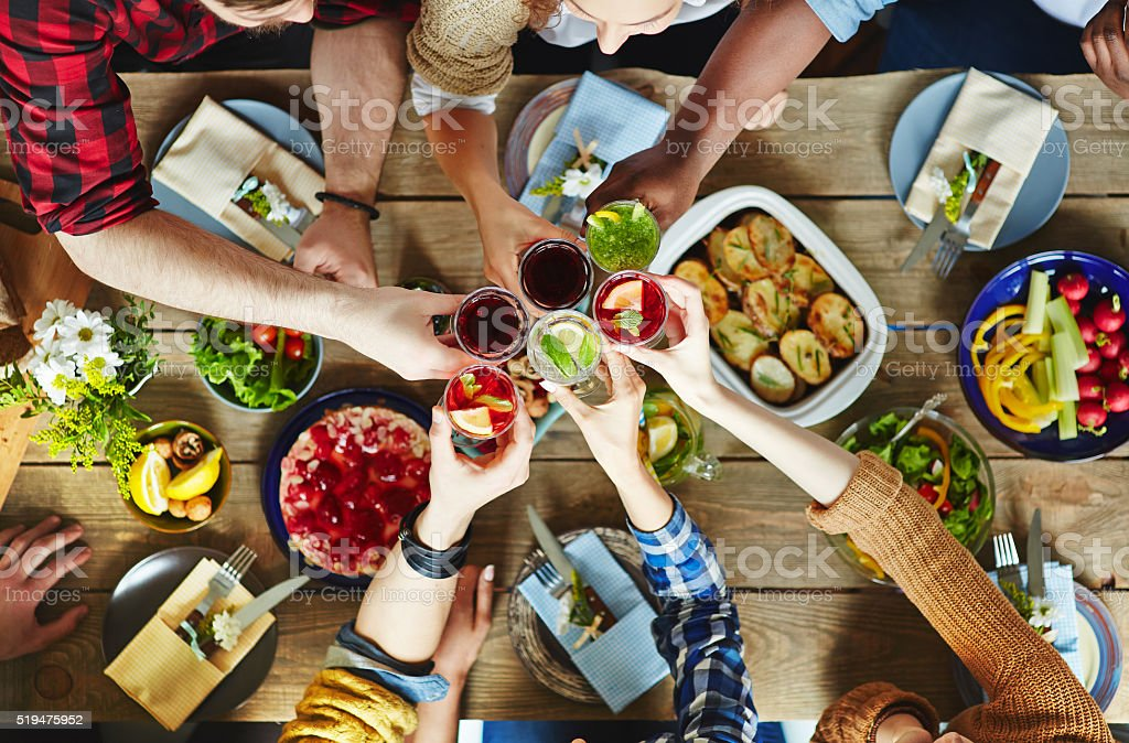 Spring toast stock photo