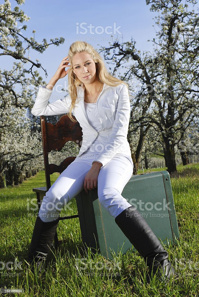 Spring travels royalty-free stock photo