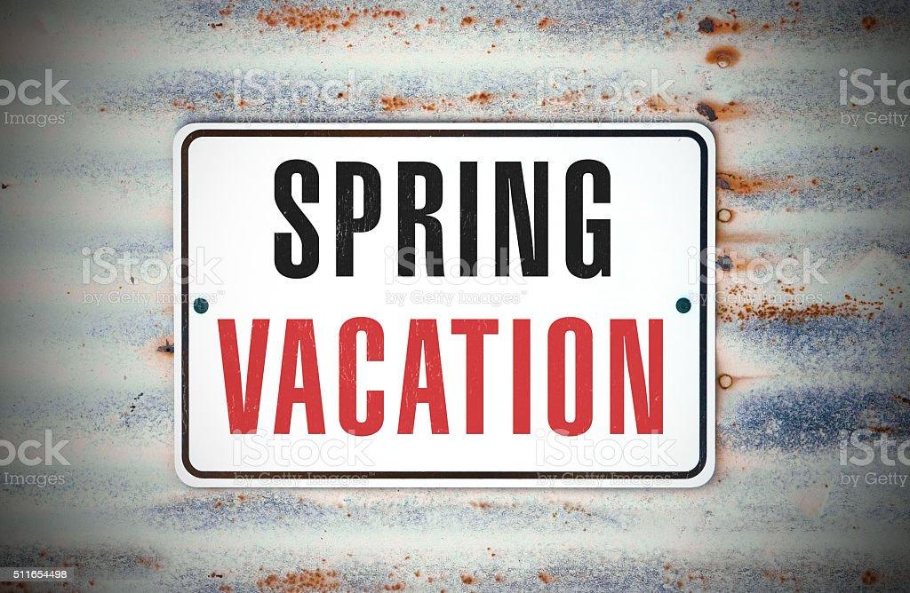 Spring Vacation stock photo