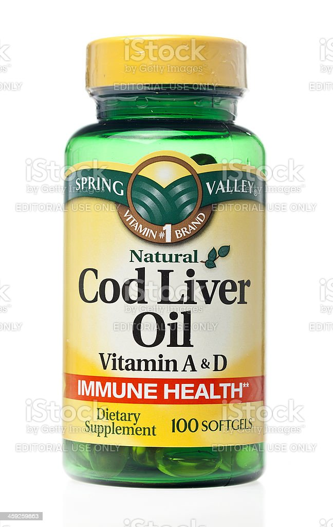Spring Valley Cod Liver Oil stock photo