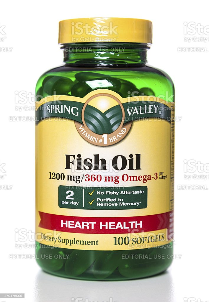 Spring Valley Fish Oil bottle royalty-free stock photo