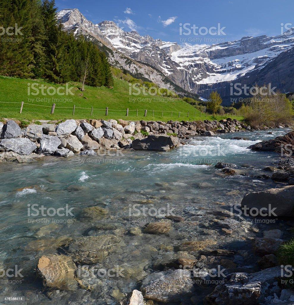 Spring valley of Gavarnie stock photo