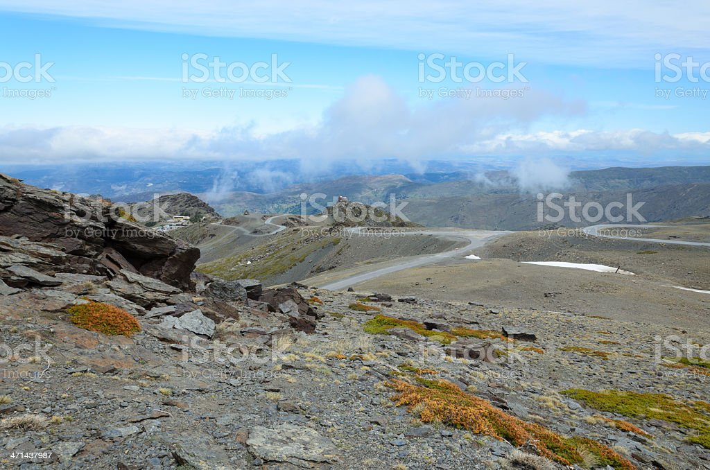 Spring view of Andalysian Sierra Nevada royalty-free stock photo