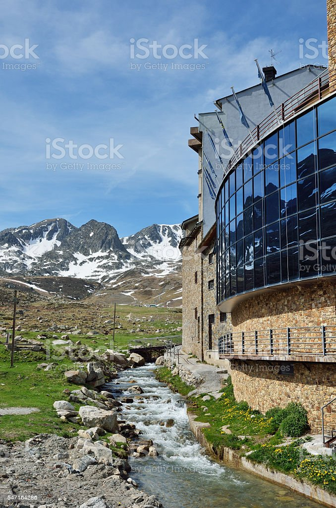 Spring view of Andorra stock photo