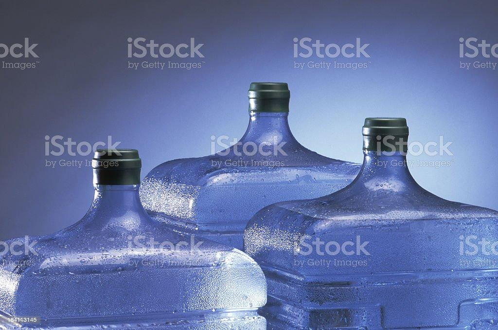 Spring water bottles royalty-free stock photo